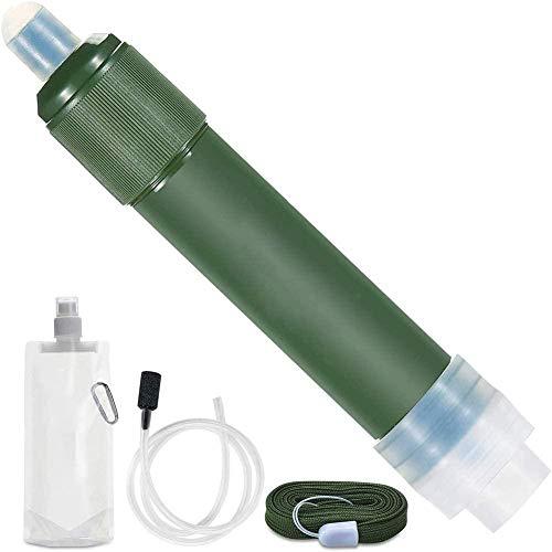 WYBD Filtro De Agua Personal - Equipo De Supervivencia con Purificador De Agua De Paja - para Caminatas, Campamentos, Viajes Y Preparación para Emergencias