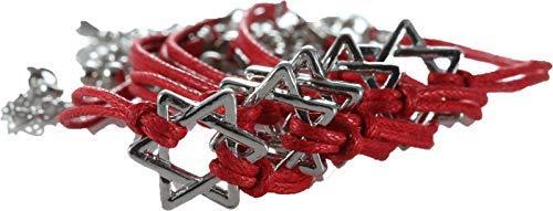 body-soul-n-spirit 5 Estrellas de David Pulsera roja Cabala Judaica Amuleto de la Suerte Israel
