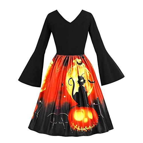 LXJ Jurk Vrouwen Lange Mouw Vintage Pompoenen Halloween Avond Prom Kostuum Swing Zomer Feestjurken Vrouwen