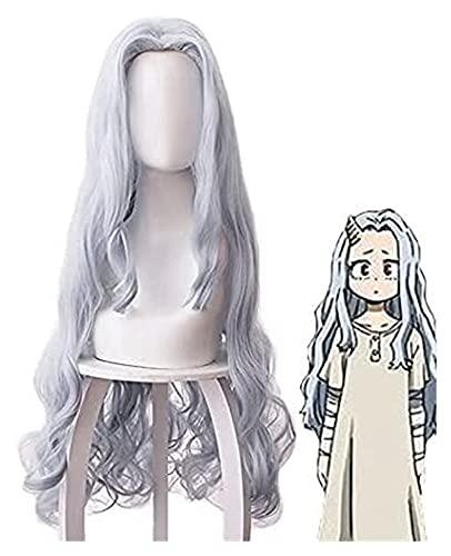 PRTOYO Anime My Hero Academia Eri Chisaki Mujer Gris Blue Wig Cosplay Disfraz Boku No Hero Academia Resistente al Calor Pelucas de Pelo sintético para los fanáticos