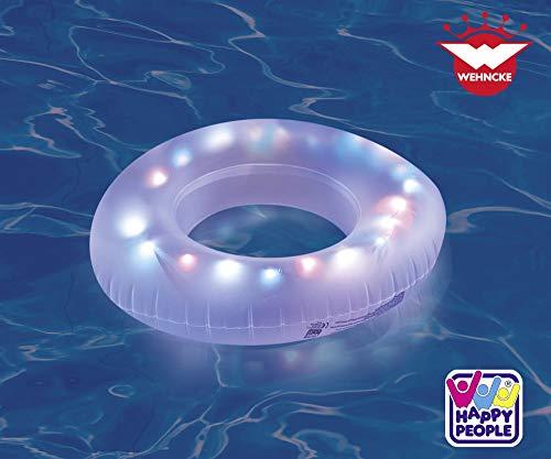 Vida GmbH LED Schwimmring Badering Strand Luftmatratze Badeinsel 81 cm Erwachsene
