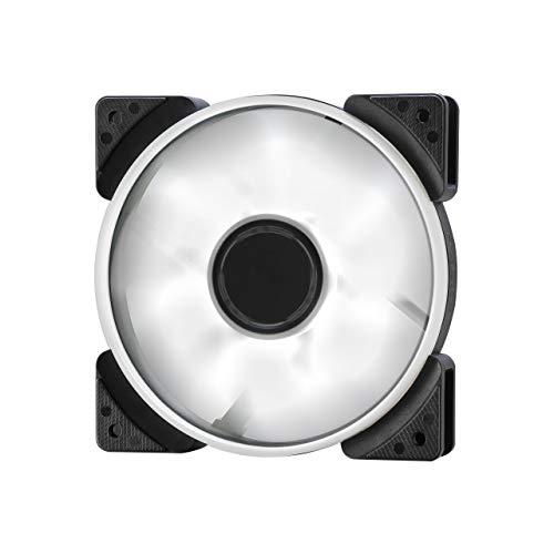 Fractal Design Prisma SL-12 120mm White LED LLS Bearing Computer Gehäuse Lüfter, weiß