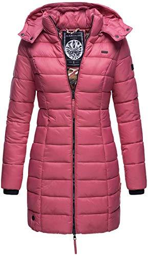 Marikoo Herbst Winter Übergangs Steppmantel Jacke Mantel gesteppt B603 [B603-Abend-Berry-Gr.S]
