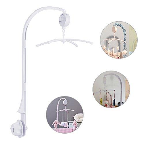 TBoonor Baby Spieluhr Musikmobile Baby Krippe Mobile Bett Glocke mit Halter Arm Halterunund für Babybett und Kinderbett (Baby Mobile mit Halter Arm)