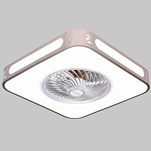 Luz Del Ventilador De Techo, Ventilador Silencioso 4 Velocidad Ajustable, Con Iluminación Y Ventilador De Techo De Atenuación Remoto, 48W, Luz De Techo Decorativa De Ventilador LED, Luz De Repelente D