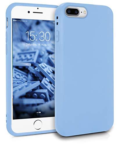 MyGadget Funda Slim para Apple iPhone 7 Plus / 8 Plus en Silicona TPU - Resistente Carcasa Flexible & Protectora - Friendly Pocket Case - Azul Claro