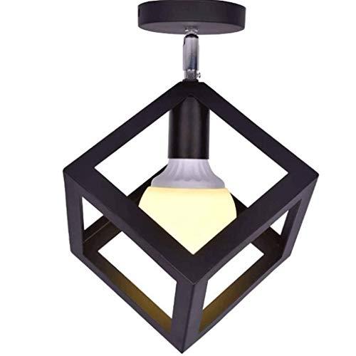 SPNEC Lámpara de Techo de la Manera Creativa del Viento Industrial Negro con 180 Grados de rotación Libre