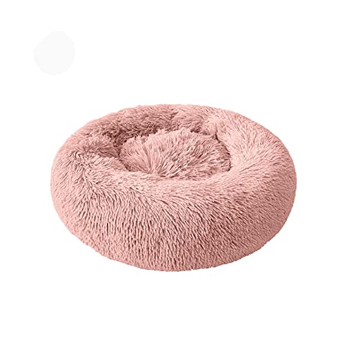 Cama de felpa redonda para gato, casa de gato, alfombrilla para invierno, cálida, para dormir, nido, cesta de perro, cojín para mascotas, portátil, suministros para mascotas, diámetro C, 50 cm