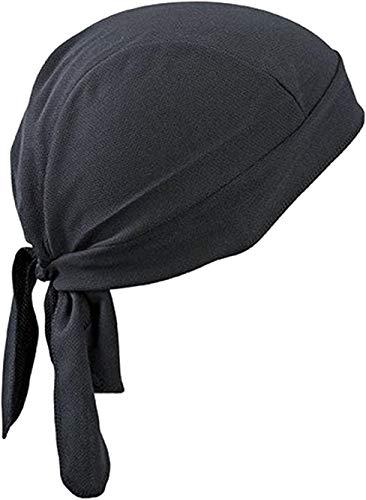 Bandana deportiva transpirable para protegerse del sol y de los rayos ultravioleta, sirve como gorro o gorra para correr, para la bicicleta, para la moto o como pañuelo para utilizar debajo del casco , negro