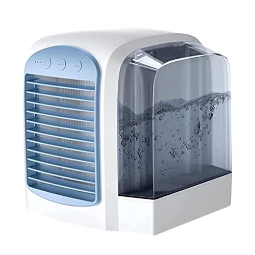 MRDUEWS Riscaldatore d'aria USB Tranquillo con condizionatore d'aria a 3 velocità, aria portatile, Spazio personale Mini Evaporativo Raffreddamento dell'aria, Umidificatore di purificazione del raffre