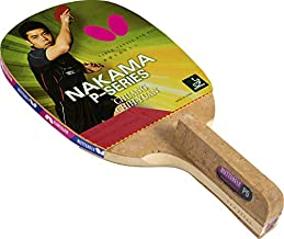Butterfly Nakama P5 Japanese Penhold Table Tennis Racket | Nakama Series | Outstanding Control with Reliable Speed and Spin | Recommended for Beginning Level Players, red