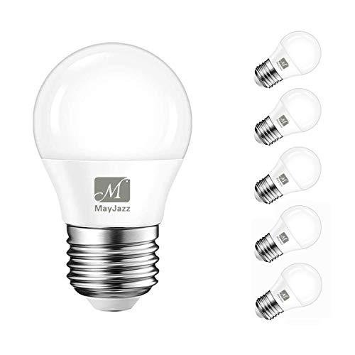 LED E27 Glühbirnen, MayJazz 5W G45 Golfball Edison Schraube LED Glühbirne, 40W Glühlampe Gleichwertig, Warmweiß 3000K, 400LM, Nicht Dimmbar (6er Pack)