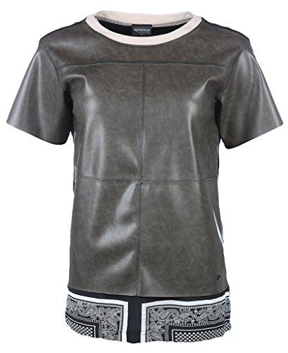 Sportalm Kitzbühel Damen Oberteil Parisa, T-Shirt, Dunkel Taupe, Crocker (38)