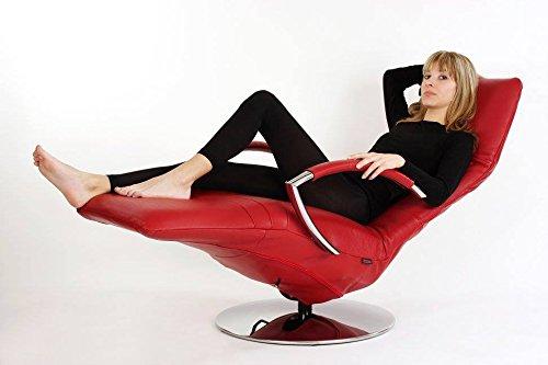 Strässle Relaxsessel, Fernsehsessel und TV Sessel David in Leder rot, schwarz oder beige - EIN Angebot von WELCON und sessel-24.de (beige)