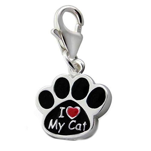 FIVE-D Charm Pfote Hund Katze Liebe 925 Sterling Silber im Schmucketui Armband Anhänger Bettelarmband