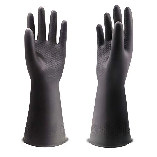UXglove Chemical Resistant Gloves, Work Heavy Duty Industrial Rubber Gloves,12.2
