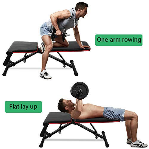 ONETWOFIT Adjustable Weight Bench,Utility Adjustable Bench for Full Body Workout,Multi-Purpose Foldable Incline Decline Benches OT112