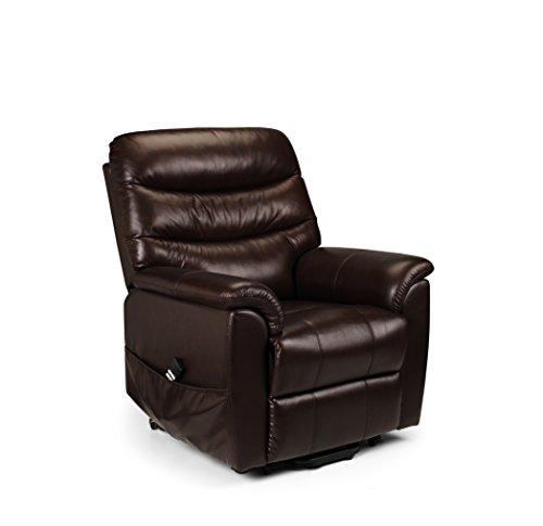 Julian Bowen Pullman Dual Motor Rise & Recliner Chair, Chestnut Brown