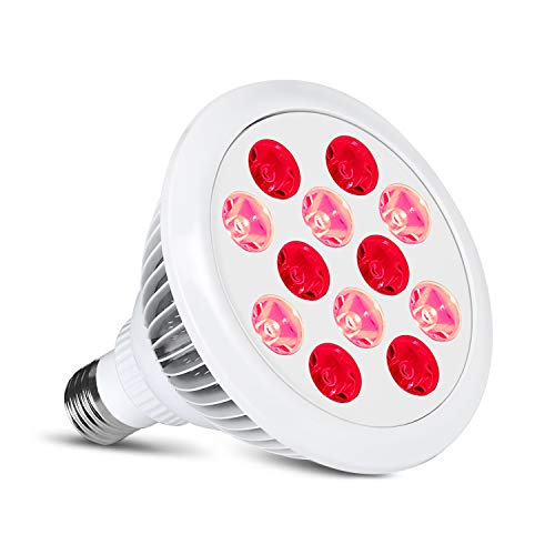 Save %57 Now! Butycee 24W Red Infrared Therapy Lamp, Combo red 660nm and Infrared 850nm LEDs Remote ...