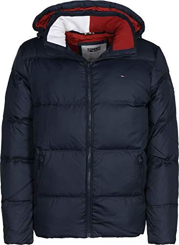 Tommy Jeans Herren Essential Down Langarm Jacke Blau (Black Iris 002) Large