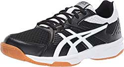 top 10 womens badminton shoes ASICS Up Coat 3 Women's Volleyball Shoes Black / White 8.5m USA