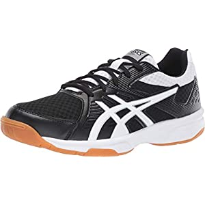 ASICS Women's Upcourt 3 Volleyball Shoes, 9, Black/White