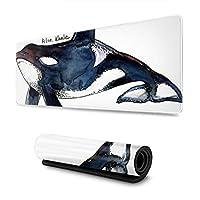 マウスパッド 大型 ゲーミングマウスパッド クジラ 水彩画 個性 海洋生物かわいい 防水性 耐久性 滑り止め 低反発キーボードパッド 多機能 超大判 30×80cm おしゃれ
