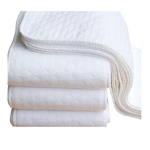 Ouneed® 5PCS Bebe Couche de linges de protection pour couche lavable en coton (Blanc)