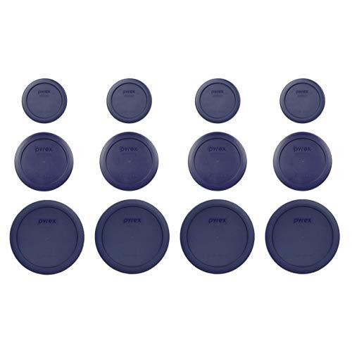 Pyrex (4) 7202-PC 1 Cup (4) 7200-PC 2 Cup (4) 7201-PC 4 Cup Blue Replacement Lids
