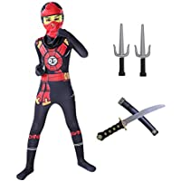 Ninja Halloween Costume with Accessories for Kids (Small)