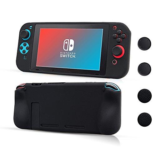 CHIN FAI Nintendo Switch Funda Protectora de Silicona, Suave Antideslizante 360 ° Funda Protectora de Silicona para Nintendo Switch [Ligero, Duradero Pieles recubiertas de Goma]