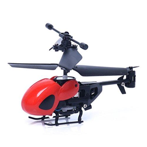 winwintom Flying Mini RC 2CH Mini RC helicóptero Radio Control Remoto avión Micro 2 Canales (Rojo)