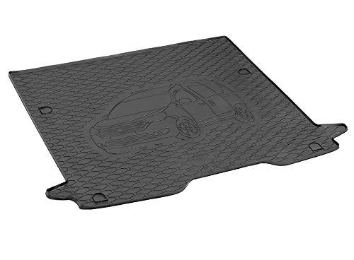 Passgenau Kofferraumwanne geeignet für Dacia Dokker ab 2012 ideal angepasst schwarz Kofferraummatte + Gurtschoner