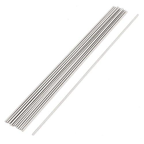 Sourcingmap - 15pcs varilla de acero de 1 mm de diámetro 100...