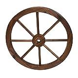 Rueda de Carro Madera de diámetro 60 cm de I Rueda Decorativa I Rueda de Carro Madera Maciza Lisa Estilo Vintage I Ruedas de Carro Antiguas I