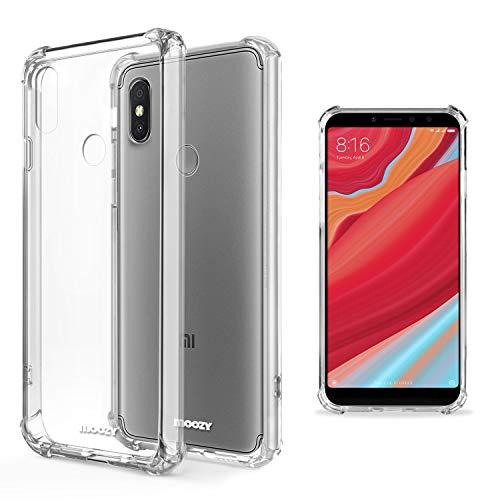 Moozy Funda Silicona Antigolpes para Xiaomi Redmi S2 - Transparente Crystal Clear TPU Case Cover Flexible