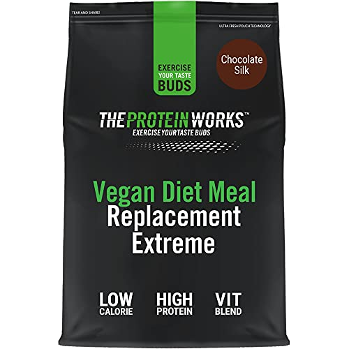 Vegan Diet Meal Replacement Extreme | Low Calorie, Weight Loss Shake | Essential Vitamins & Minerals | THE PROTEIN WORKS | Chocolate Silk | 500g