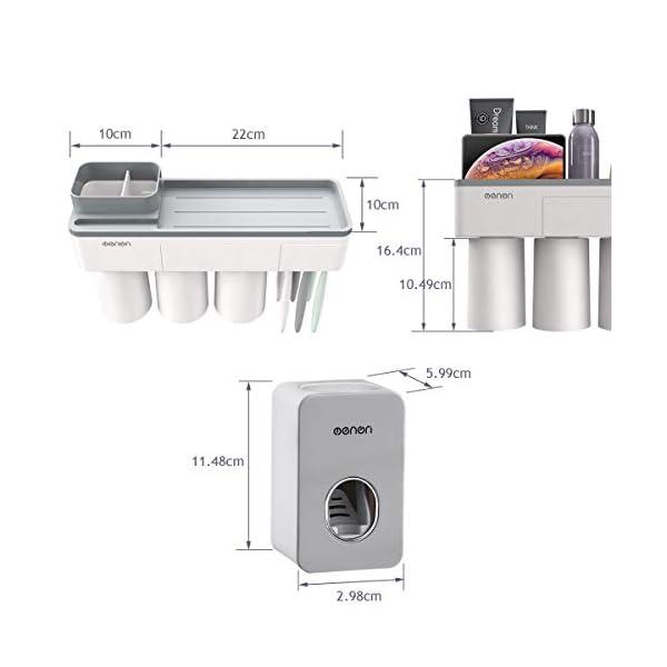 ChangMi Porta Cepillo de Dientes y Dosificador Automático de Pasta de