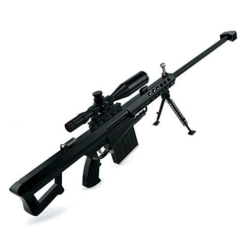 DIY Blocks Juguetes Arma Arma Barrett Aleación metálica Fusil de Francotirador Modelo Muy Adecuado para los entusiastas Militares, para la colección de artesanía Regalos y Adornos