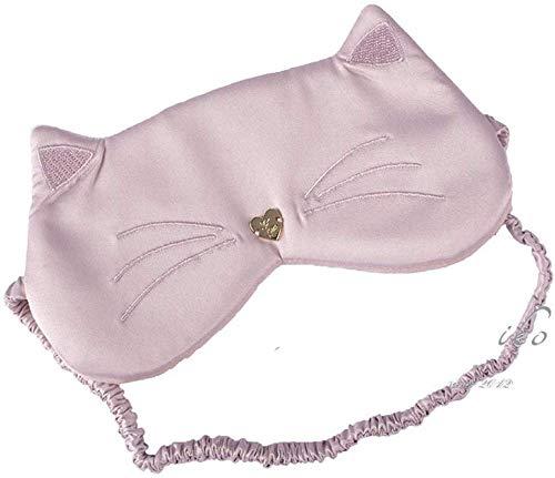 3D-Schlaf-Blackout Brille, Kitten Ears Liebe Mittagspause Licht Tragbare Augenmaske zum Schlafen/Suede,A