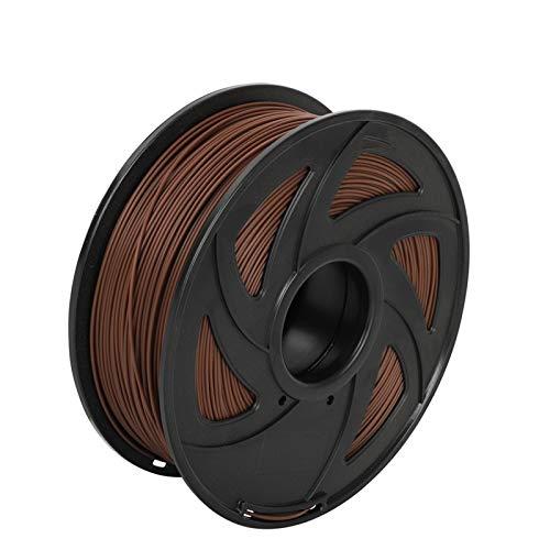 PLA-Filament 1.75mm für 3D-Drucker 3D-Stifte Filamentlänge 330 Meter 1kg Mehrere Farben Keine Blasen Kunststoffmaterial (Color : PLA Brown)