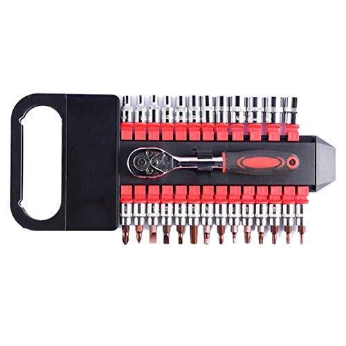 APcjerp 27 PC Sleeve Cr-V Ratsche 1/4 Schlüssel-Werkzeug-Set Steckschlüsselsätze Professionelle Reparatur-Werkzeuge Kombinationswerkzeug Hslywan