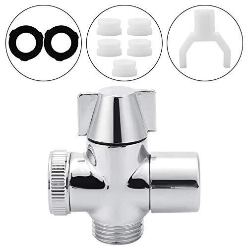 DERCLIVE M22*1 hembra rosca de agua grifo adaptador desviador conector de tres vías para el baño en casa