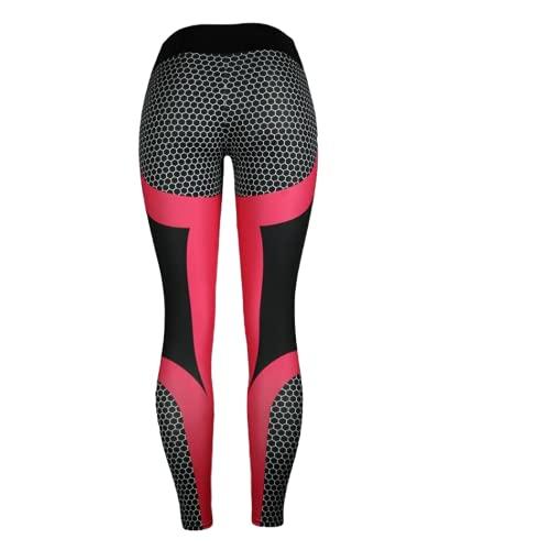 Pantalons de Yoga pour Femmes Fitness Collants de Sport Push-ups Pantalons de Fitness Minces Pantalons de Course à imprimé nid d