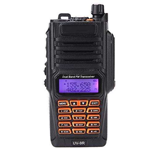 Liukouu Walkie Talkie portátil, Walkie Talkie portátil FM/VHF/UHF Impermeable a Prueba de caídas para conexión inalámbrica
