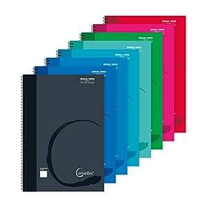 MP - Cuadernos Cuadriculados, Tapa Blanda, Unido en Espiral, 80 Hojas, Paquete de 8 Libretas 310x215 mm
