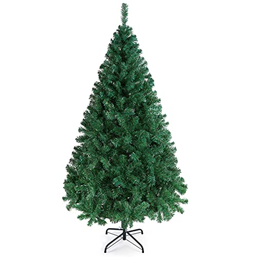 Yaheetech 6ft Artificial Christmas Tree 598 Tips Hinged Spruce Christmas Tree with Foldable Stand 6...