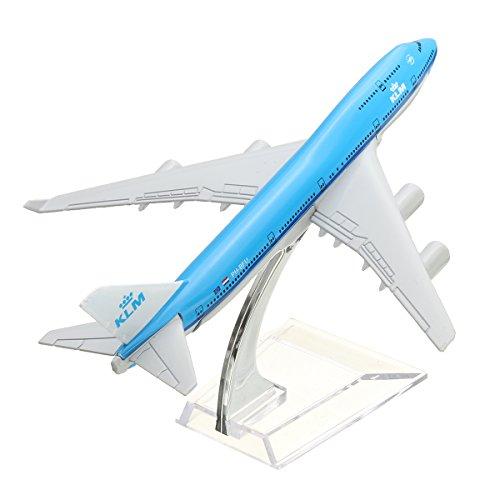 VIDOO 16Cm Flugzeug Metall Flugzeug Modell Flugzeug B747 KLM Flugzeug Skala Flugzeug Schreibtisch Spielzeug