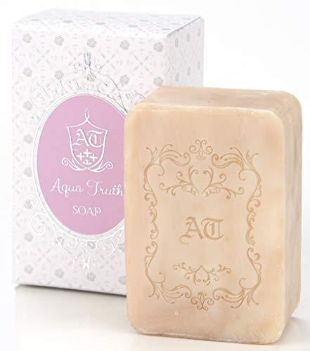 無添加・洗顔ソープ AquaTruth 薔薇はちみつ石鹸 120g 肌うるおい仕上げ
