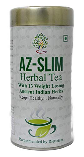 Ayurveda Yogashram Az-Slim Tea For Weight Loss. 100% Pure Product 100g